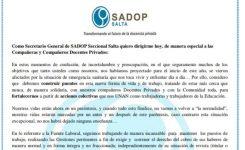 SADOP Salta llevó a cabo un Plan de Trabajo para registrar la situación actual de los Docentes Privados de nuestra Provincia y establecer acciones en consecuencia